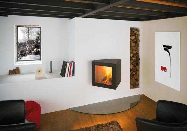 cheminée contemporaine Cubifocus