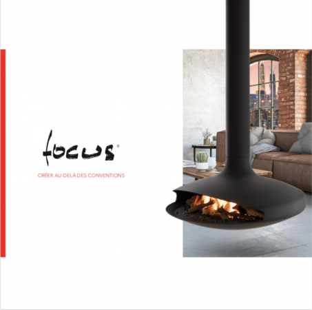 Focus creation architectes architectural design inspiration contemporary fireplace suspended fireplace interior dominique Imbert gas