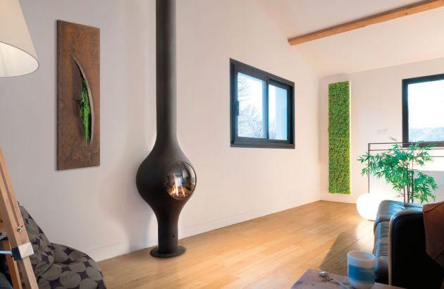 chimeneas de diseño de pared