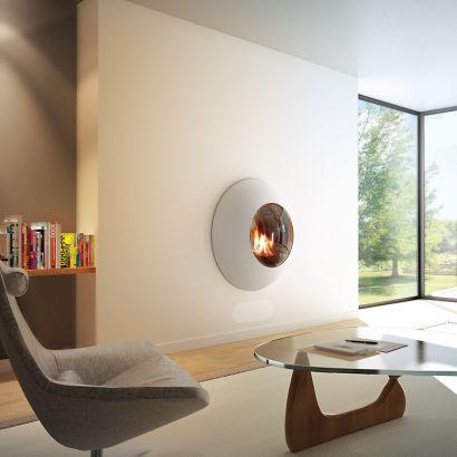 Chimenea de diseño de pared Lensfocus gas
