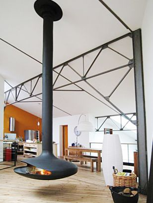 chimenea de diseño central Gyrofocus
