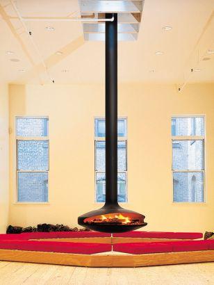 chimenea de diseño central Gyrofocus New York