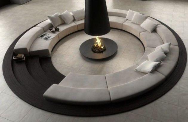 chimenea central de diseño telescópica Filiofocus