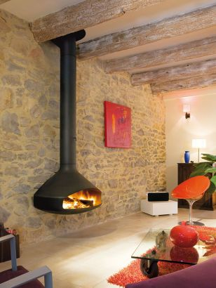chimenea de diseño de pared Paxfocus