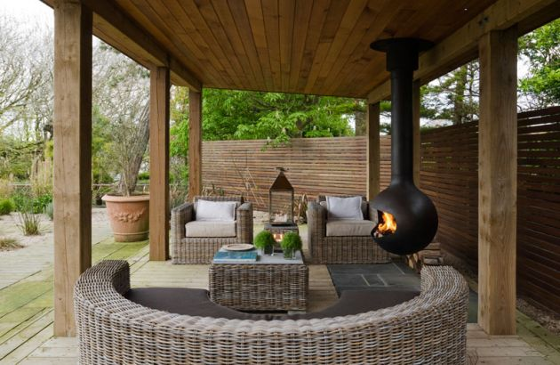Chimenea design de exterior Bathyscafocus outdoor