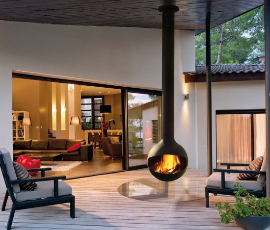 chimenea design de exterior outdoor