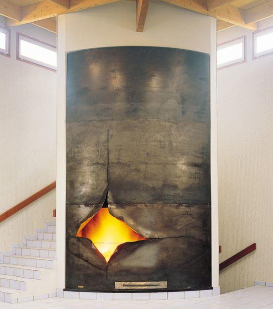 cheminée design sur mesure