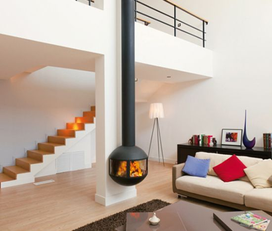 cheminee design edofocus 631 poele bois design vitr - Chimeneas De Diseo