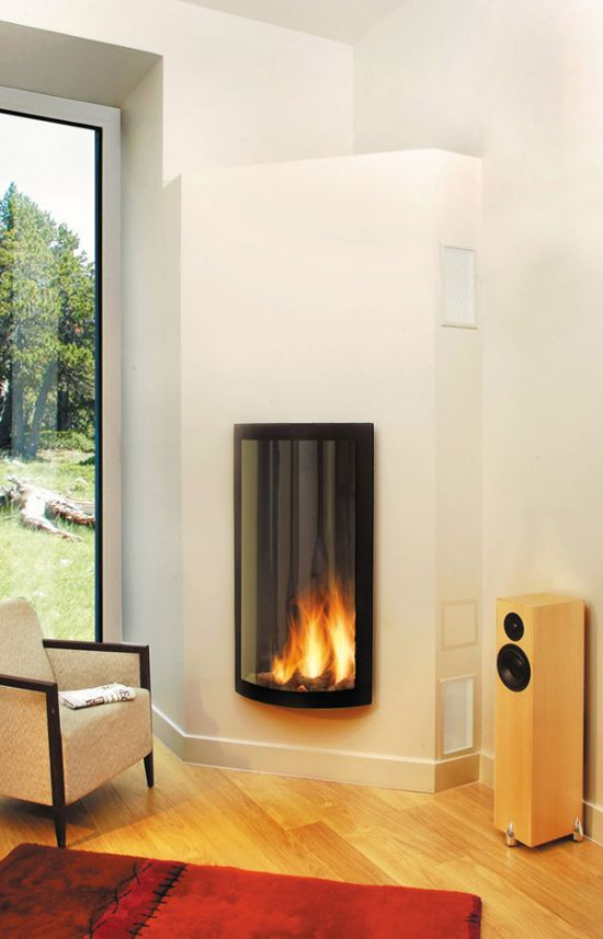 Chimeneas de obra modernas simple chimeneas sirvent venta for Instalar insert chimenea existente